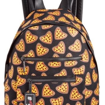 Circus By Sam Edelman Canvas Pizza Backpack Black NWT