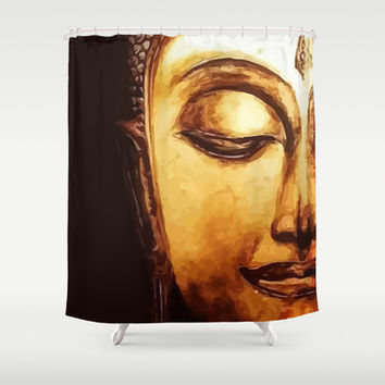 Buddha Meditation Shower Curtain by Maioriz Home