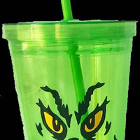 The Grinch 16oz Tumbler Double Plastic Tumbler Gift