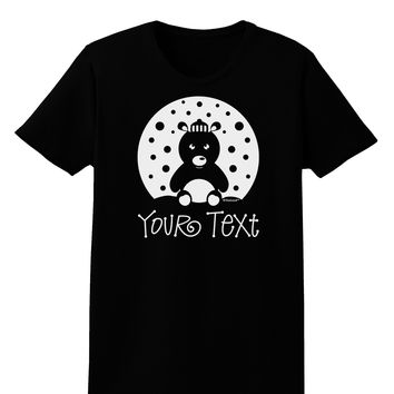 Personalized Matching Polar Bear Family Design - Your Text Womens Dark T-Shirt