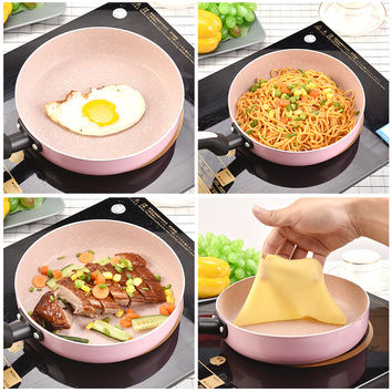 Japanese 20cm Non-stick Frying Pan Pancake Pan Frying Egg Pan Maifanite Coating