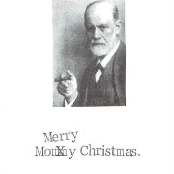 Mommy Christmas Freudian Holiday Card | Funny Psychology Psychiatry Humor Sarcastic Merry Christmas Happy Holidays Indie Nerdy Hipster Pun