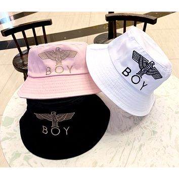 Boy London 2019 new eagle three-dimensional embroidery cotton high-end basin cap fisherman hat