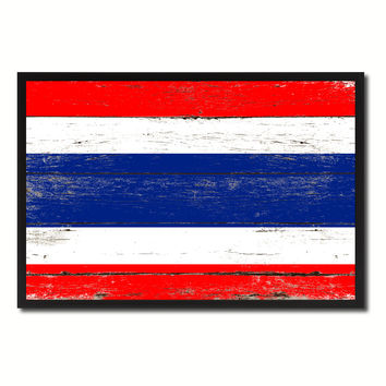 Thailand Country National Flag Vintage Canvas Print with Picture Frame Home Decor Wall Art Collection Gift Ideas