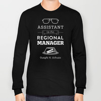 The Office Dunder Mifflin - Assistant to the Regional Manager Long Sleeve T-shirt by Noonday Design