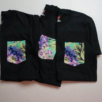 Floral Pocket T-shirt *Men's Medium*