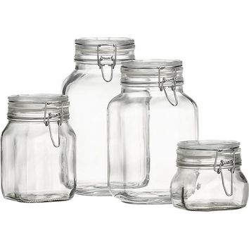 Set of 4 Fido Jars with Clamp Lids