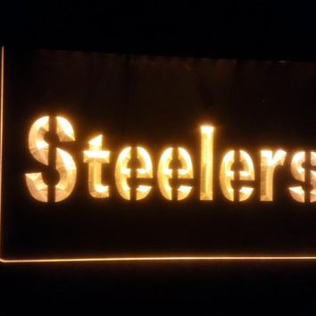 b-142 Pittsburgh Steelers beer bar pub club 3d signs LED Neon Light Sign man cave