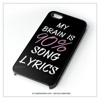 Cool Brain Song Music Cute Funny Quote iPhone 4 4S 5 5S 5C 6 6 Plus , iPod 4 5  , Samsung Galaxy S3 S4 S5 Note 3 Note 4 , and HTC One X M7 M8 Case