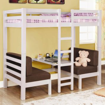 Amelia White Convertible Table to Bunk Bed