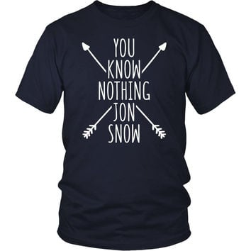 Game of Thrones T Shirt - You Know Nothing Jon Snow - TV & Movies