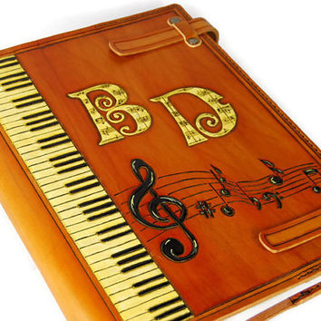 Gift for Him Gift for Her Large A4 Leather Cover for musical scores