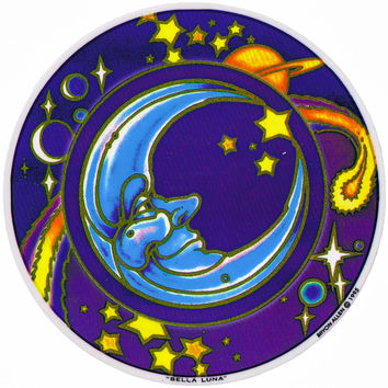 Bella Luna Window Sticker on Sale for $3.00 at The Hippie Shop