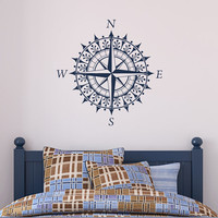 Compass - Vinyl Wall Decal Sticker Art Design