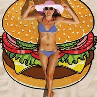 Casual Hamburger Sweet Fantasy Beach Blanket