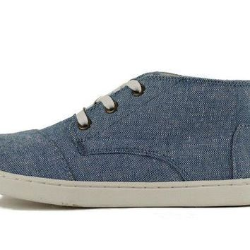 DCCKLP2 Kids Toms Paseo Mid Light Navy Chambray