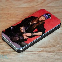 Axl Rose Wallet Case for iPhone 4, 4S, 5, 5S, 5C, 6, 6 Plus, 7 and Samsung Galaxy S3, S4, S5, S6, S7