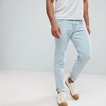 ASOS Slim Jeans In Flat Light Wash at asos.com