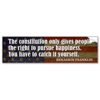 The constitution gives people the right... bumper sticker from Zazzle.com