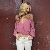 Highlight Off Shoulder Top In Coral
