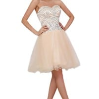 Sunvary Luxurious Rhinestones Sweetheart Bridesmaid Dresses Cocktail Party Dresses Short