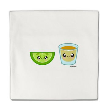 "Cute Tequila Shot and Lime Wedge Micro Fleece 14""x14"" Pillow Sham by TooLoud"