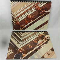 The BEATLES Blue Album (1967-70) Notebooks - 2 (two) Recycled Record Album Jacket Sketch Book Journals