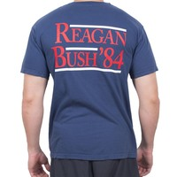The Election Year Reagan Bush 84 Pocket Tee in Navy by Full Time American