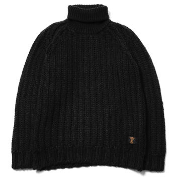 """Asher"" T-Neck Dralon Knit Sweater"