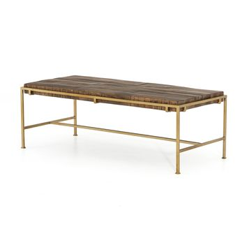 BROADWAY COFFEE TABLE-AGED BRASS