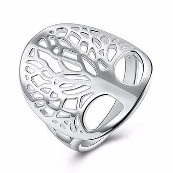 Tree Of Life Totem Religion Silver Ring