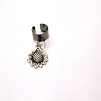 Sunflower ear cuff