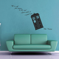 We're All Stories in the End - Doctor Who Wall Decal - Large