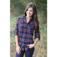 How Sweet It Is Blouse-Navy