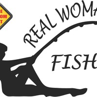 Real Woman Fish Sticker Decal 20 Colors To Choose From.