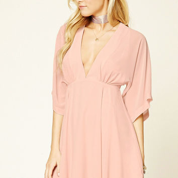 Contemporary V-Neck Swing Dress