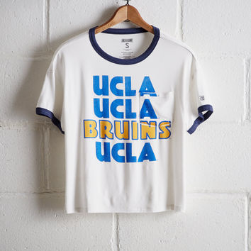 Tailgate Women's UCLA Pocket T-Shirt, White