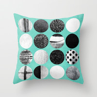 B/W Circles (2) Throw Pillow by Elisabeth Fredriksson