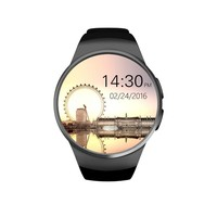 ot01 Original KW18 Full Round IPS Heart Rate Smart Watch MTK2502 BT4.0 Smartwatch for ios and