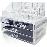 Vktech Acrylic Cosmetic Organizer Drawer Makeup Case Storage Insert Holder Box