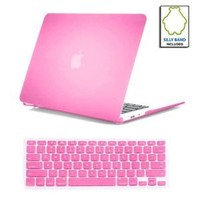"SmackTom(TM) 2 in 1 Rubberized Hard Case Skin for Macbook Air® 11"" A1370 / A1465 With Protective Keyboard Cover-Pink"