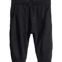 H&M - Sweatpant Shorts - Black