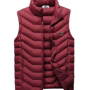 Lacoste Fashion Down Vest Cardigan Jacket Coat-2