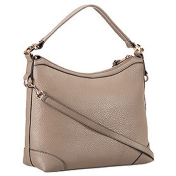 Gucci Miss GG Leather Hobo Grey