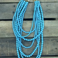 The Jackie Necklace - Turquoise