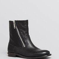 Burberry Cold Weather Moto Booties - Eunice Asymmetrical Zip