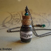 GILLYWEED - Harry Potter Inspired Vial Necklace with swarovski crysta | JetaimeBoutique - Jewelry on ArtFire