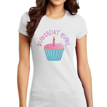Birthday Girl - Candle Cupcake Juniors T-Shirt by TooLoud
