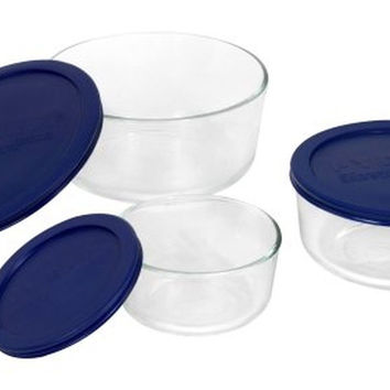 Pyrex Simply Store 6-Piece Round Glass Food Storage Set Standard Packaging