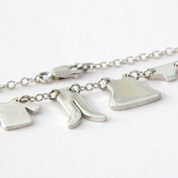 Sale! Washing Line Necklace. Clothes line. Sterling Silver. Handmade at the Brighton Workshop.